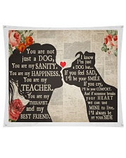 """Dog girl tapestry Wall Tapestry - 60"""" x 51"""" front"""
