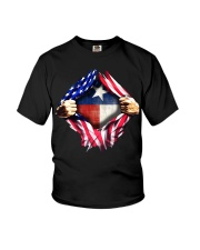 usa flag texas heart Youth T-Shirt tile