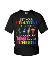 Get Your Crayon It's 100th day of School Youth T-Shirt thumbnail