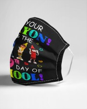 Get Your Crayon It's 100th day of School Cloth face mask aos-face-mask-lifestyle-21