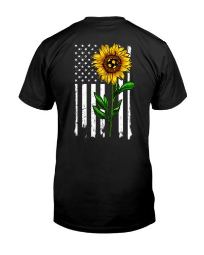 Soccer Sunflower Usa Flag