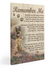 german shepherd remember me canvas 20x30 Gallery Wrapped Canvas Prints front