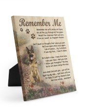 german shepherd remember me canvas Easel-Back Gallery Wrapped Canvas tile