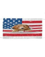 poodle 1 us flag fm Cloth face mask front