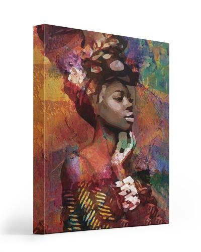 black girl abstract canvas