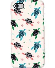 cute sea turtle Phone Case tile