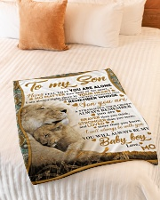 """To my son mom lion never feel Small Fleece Blanket - 30"""" x 40"""" aos-coral-fleece-blanket-30x40-lifestyle-front-01"""