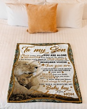 """To my son mom lion never feel Small Fleece Blanket - 30"""" x 40"""" aos-coral-fleece-blanket-30x40-lifestyle-front-04"""