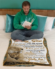 """To my son mom lion never feel Small Fleece Blanket - 30"""" x 40"""" aos-coral-fleece-blanket-30x40-lifestyle-front-06"""