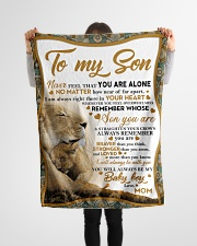 """To my son mom lion never feel Small Fleece Blanket - 30"""" x 40"""" aos-coral-fleece-blanket-30x40-lifestyle-front-14"""