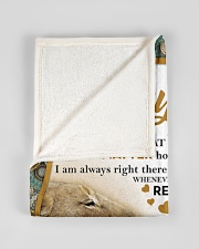 """To my son mom lion never feel Small Fleece Blanket - 30"""" x 40"""" aos-coral-fleece-blanket-30x40-lifestyle-front-17"""