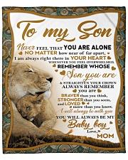 To my son mom lion never feel Fleece Blanket tile