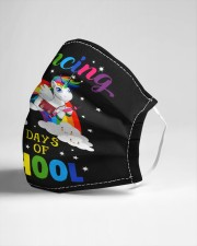 Prancing Through 100 days of school Cloth face mask aos-face-mask-lifestyle-21