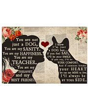 French Bulldog girl poster 24x16 Poster front