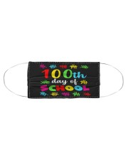 100th day of school design Cloth face mask aos-face-mask-coverlet-lifestyle-front-01