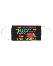 Happy 100th day of preschool Cloth face mask aos-face-mask-coverlet-lifestyle-front-01