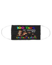 100 days of driving my students nuts Cloth face mask aos-face-mask-coverlet-lifestyle-front-01