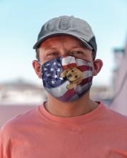 golden retriever puppy usa flag fm Cloth face mask aos-face-mask-lifestyle-06