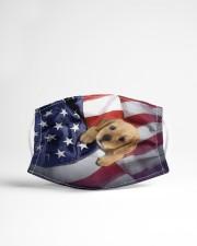 golden retriever puppy usa flag fm Cloth face mask aos-face-mask-lifestyle-22