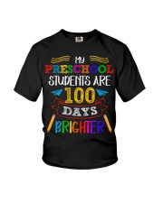 My preschool student are 100 days birghter Youth T-Shirt tile