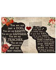 bull dog girl poster 24x16 Poster front
