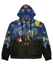 camping bear drinking beer all over printed Women's All Over Print Full Zip Hoodie thumbnail