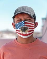 pug puppy us flag fm Cloth face mask aos-face-mask-lifestyle-06