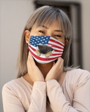 pug puppy us flag fm Cloth face mask aos-face-mask-lifestyle-17