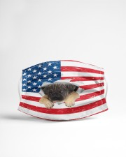 pug puppy us flag fm Cloth face mask aos-face-mask-lifestyle-22