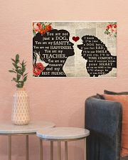 poodle girl poster 24x16 Poster poster-landscape-24x16-lifestyle-22