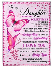 """To my daughter pink butterfly Small Fleece Blanket - 30"""" x 40"""" front"""