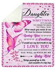 """To my daughter pink butterfly Sherpa Fleece Blanket - 50"""" x 60"""" thumbnail"""