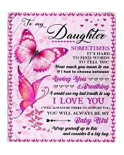 """To my daughter pink butterfly Quilt 50""""x60"""" - Throw thumbnail"""