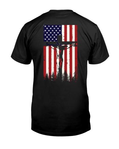 God usa flag 2 sides printed