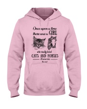 Cats horses girl once up on a time Hooded Sweatshirt front