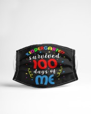 Kindergarten survived 100 days of me Cloth face mask aos-face-mask-lifestyle-22
