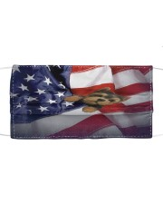 yorkshire terrier usa flag fm Cloth face mask front