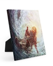 god hand Easel-Back Gallery Wrapped Canvas tile
