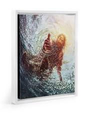 god hand Floating Framed Canvas Prints White tile