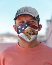 Golden Retriever us flag FM Cloth face mask aos-face-mask-lifestyle-06