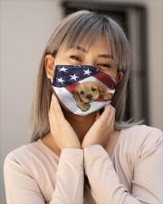 Golden Retriever us flag FM Cloth face mask aos-face-mask-lifestyle-17