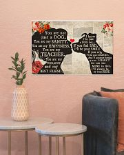 Dog girl poster 24x16 Poster poster-landscape-24x16-lifestyle-22