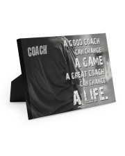 baseball great coach can change a life 10x8 Easel-Back Gallery Wrapped Canvas thumbnail