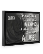 baseball great coach can change a life 14x11 Black Floating Framed Canvas Prints thumbnail