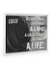 baseball great coach can change a life 14x11 White Floating Framed Canvas Prints thumbnail