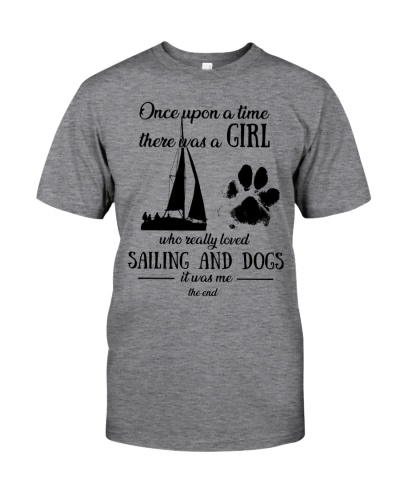Once upon time girl loved sailing dogs