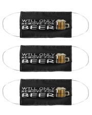 only remove for beer Cloth Face Mask - 3 Pack front