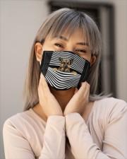 german shepherd Line mask Cloth face mask aos-face-mask-lifestyle-17