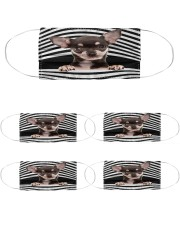 chihuahua Line mask Cloth Face Mask - 5 Pack front