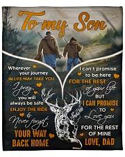 """Deer hunting - To my son 1 Fleece Blanket - 50"""" x 60"""" front"""